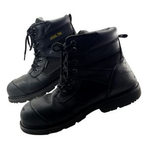 Steel Toe Work Boots Men's 13 Black ASTM F2413-11 Leather Uppers Herman Survivors USA Made for Sale in Willowbrook, IL