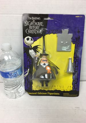 Tim Burton nightmare before Christmas limited-edition figurine made your number before Christmas Jack and Sally Disney toys Mickey Mouse Minnie mouse for Sale in La Habra, CA