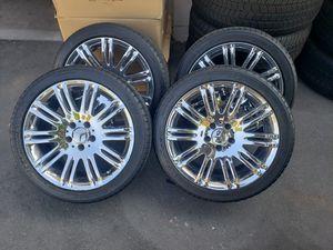 Mercedes-Benz Chrome 18 inch OEM Wheels/Rims W/Michelin Tires for Sale in Pomona, CA