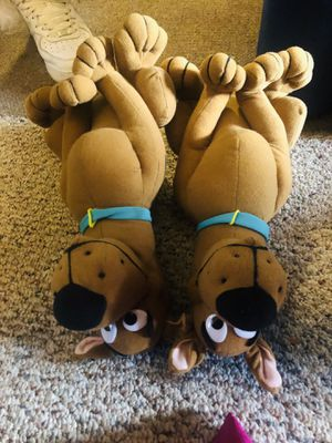 2 scooby doo stuffed animal dogs twins / cousins for Sale in Alexandria, VA