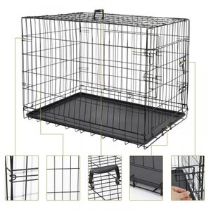 36 Durable Dog Crate Kennel Folding Pet Cage 2 Door With Tray Indoor Dog House for Sale in Lake Elsinore, CA