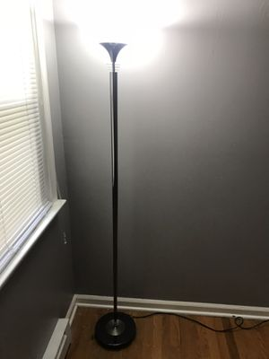 Metal lamp with glass shade for Sale in Newport News, VA