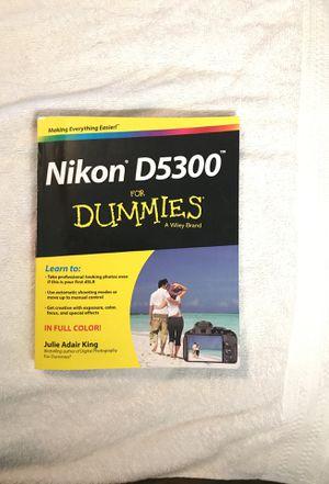 Nikon D5300 Book For Dummies for Sale in Shepherdstown, WV