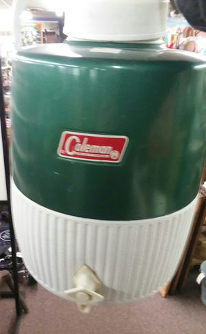 Vintage Green Coleman Water Cooler for Sale in Sunbury, OH