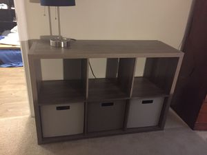 Target brand bedroom cabinet with 3 cotton storage boxes for Sale in Alexandria, VA