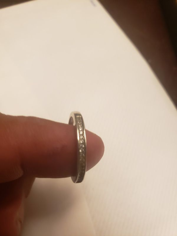Real diamond 925 Italy silver ring