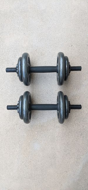 💪 NEW 20 lb Dumbbells Adjustable + Expandable Iron for Sale in Encinitas, CA