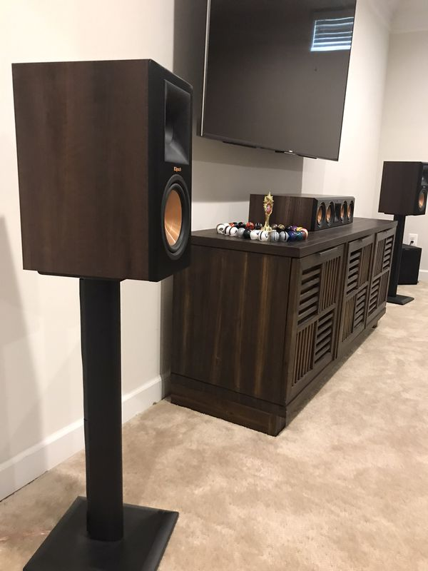Pair of Klipsch Reference Premier 160M with speaker stands