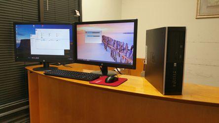 "HP+Two(2) 24""LED monitors: i5-3470@4x3.3GHz, 8GB RAM, 600GB SSD, 5G-WiFi, BT4.0, DVD-RW, Win10Pro, OfficePro【Warranty】 for Sale in Richardson,  TX"