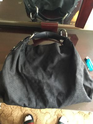"AUTHENTIC Gucci Black ""Original GG"" Canvas ""Large Horsebit Hobo"" Bag🚨🚨🚨🚨🚨🚨 for Sale in Washington, DC"