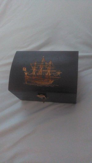 Small treasure chest with boat ingraving for Sale in Leesburg, VA