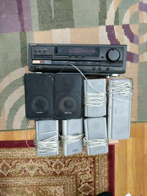 Technics 5.1 AV Control Stereo Receiver Amplifier Tuner Dolby Surround SA-EX310: with speakers for Sale in Middleton, MA