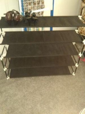 Fabric and metal shoe rack for Sale in Alexandria, VA