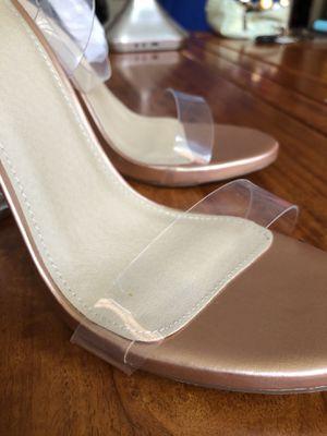 BooHoo Boo Hoo Rose Gold Clear Heels 👠 for Sale in Dublin, OH