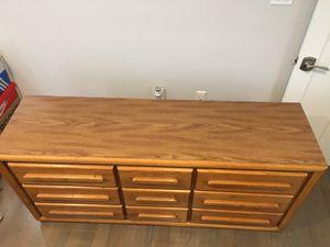 Oak dresser w/ matching end table for Sale in Boston, MA