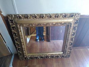 VINTAGE ANTIQUE LARGE GOLD FRAME MIRROR OLD for Sale in Lexington, NC