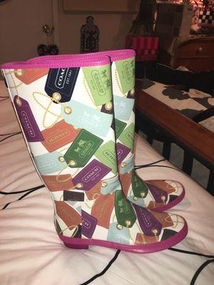 Coach Rain Boots SZ 9 for Sale in Powder Springs, GA