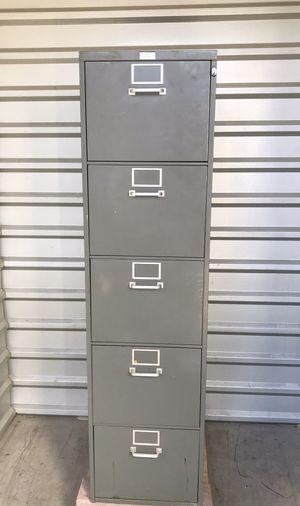 Super Filer 5 Drawer Filing Cabinet with Tilt Drawers for Sale in Carrollton, TX