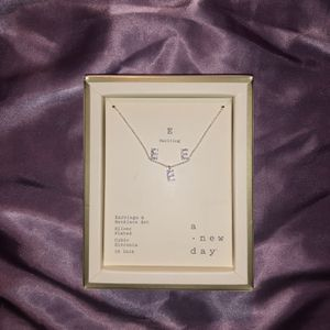 'E' Initial Letter Necklace and Earring Set for Sale in Beaverton, OR