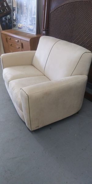 Natuzzi suede loveseat $150 for Sale in Pompano Beach, FL