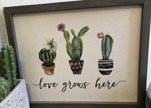 Home Decor / Wood Decor / Cactus / for Sale in Fresno, CA