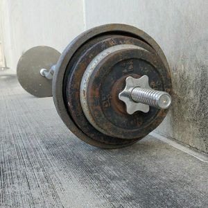 Weights - Ez Curl Bar - 85lbs for Sale in San Antonio, TX