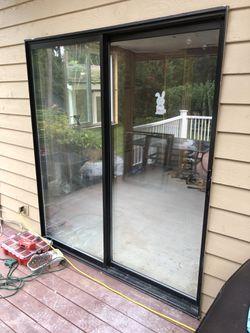 Sliding door 71 x 81 aluminum double pane metal for Sale in Snohomish,  WA
