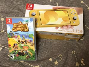 Nintendo Switch Lite Yellow and Animal Crossing New Horizons for Sale in Beaverton, OR