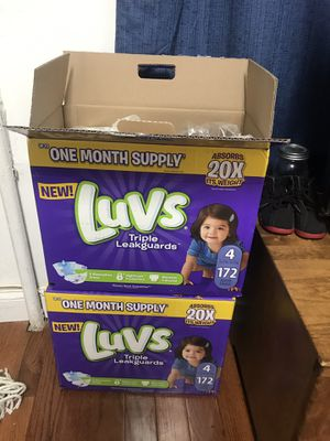 Luvs pampers for Sale in Brooklyn, NY
