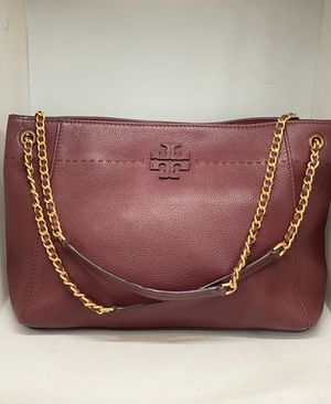 TORY BURCH Burgundy Pebbled Leather Bag for Sale in Orlando, FL