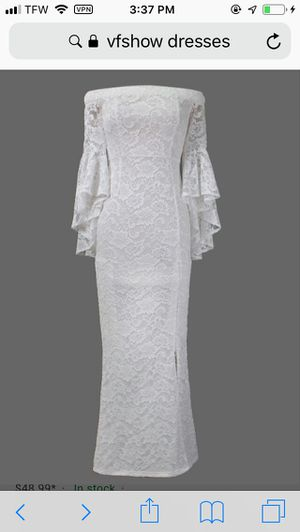 Formal Vfshow Off the Shoulder Lace Dress Wedding Dress for Sale in Grove City, OH