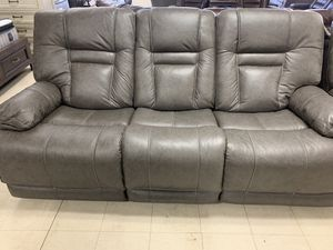 Sofa Take it home today Top grain leather Sectional Power headrest power lumbar for your back USB outlet for Sale in Madera, CA
