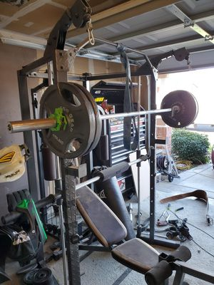 Must take all Marcy free weight cable Smith machine over 600lbs and more for Sale in Brentwood, CA