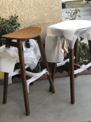 Brand new set of mid century style barstools. 30inches from floor to seat. Retails for over $600 for Sale in Fowler, CA