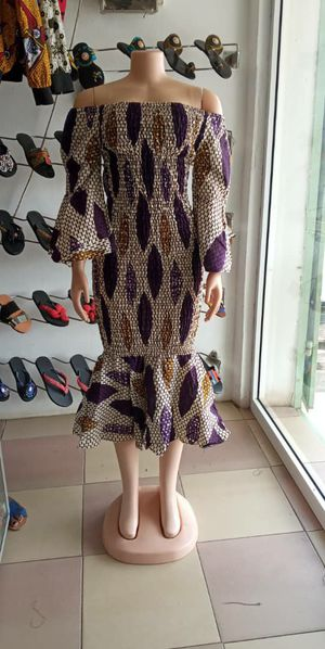 African print stretch or elastic dress - size 6 to 10 for Sale in Baltimore, MD