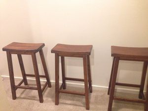 Hazel colored wood stools for Sale in Gig Harbor, WA