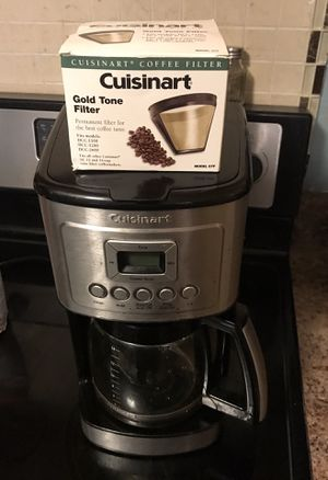 Cuisinart 14 Cup Progammable coffee maker with Glass Carafe, Stainless Steel for Sale in Randolph, MA