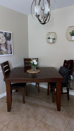 Kitchen table and chairs real wood for Sale in Bakersfield, CA