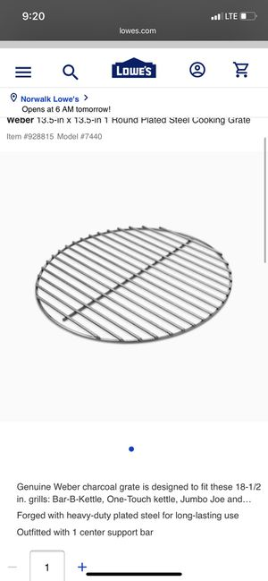 Charcoal grate for Sale in Norwalk, CA