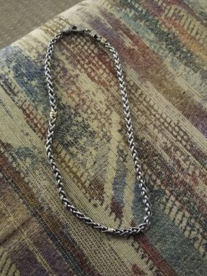 Stainless and white gold chain with matching braclet for Sale in Arvada, CO