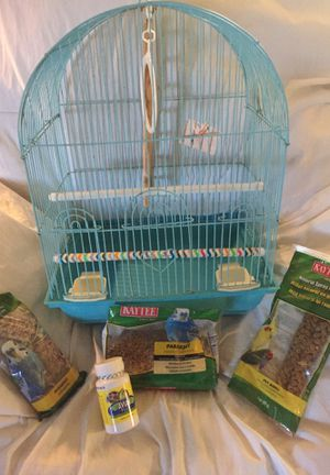 Parakeet Bird Cage , Food and Vitamins for Sale in Redwood City, CA