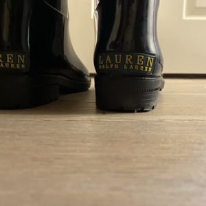 Ralph Lauren Rain boots Black Shiny New Without Box for Sale in Baltimore, MD