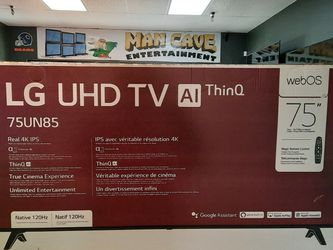 2020 LG 75INCH TV WITH HDMI 2.1 AND VRR. 6 MONTH WARRANTY AND SMART FEATURES! ONLY 819 CASH OUT THE DOOR! for Sale in Glendale,  AZ