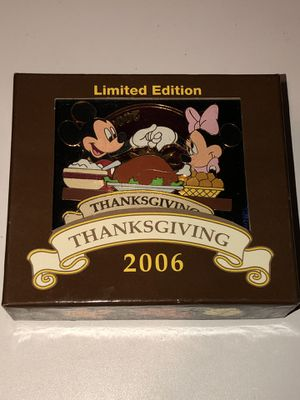 2006 Walt Disney World Jumbo Thanksgiving Pin Limited of 500 for Sale in San Jacinto, CA
