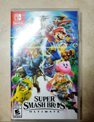 Super Smash Bros Ultimate Nintendo Switch video game smash brothers for Sale in Mesa, AZ