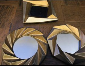 Wall decor; 3 vintage mirror set! for Sale in Riverside, CA