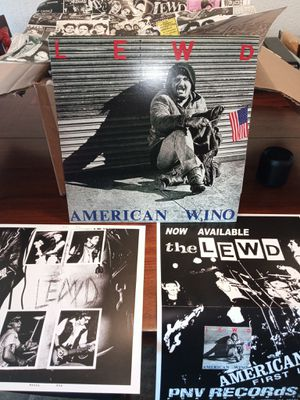 The Lewd - American Wino LP reissue w/posters hardcore punk dead kennedys avengers crime for Sale in East Los Angeles, CA