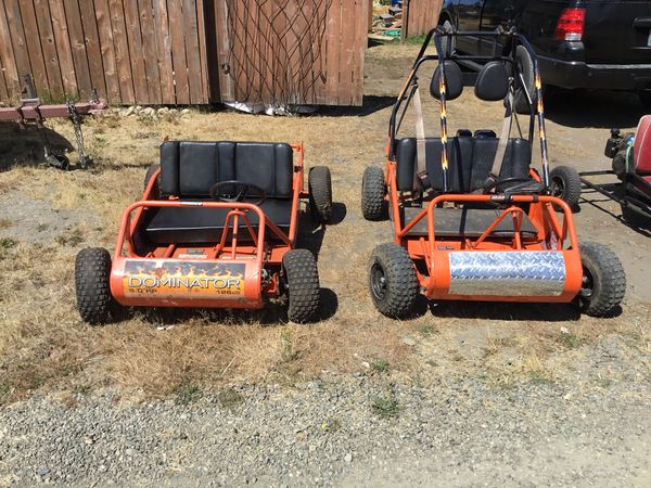 MANCO DOMINATOR class 126cc 2 person go carts for Sale in Rochester, WA -  OfferUp