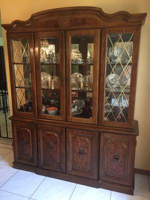 Oak china hutch for Sale in Orlando, FL