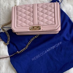 Rebecca Minkoff quilted crossbody bag in pink for Sale in Gaithersburg, MD